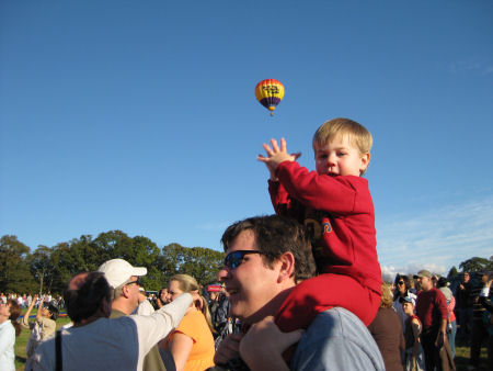 This little fellow was so CUTE!   He clapped every time a new balloon was released.