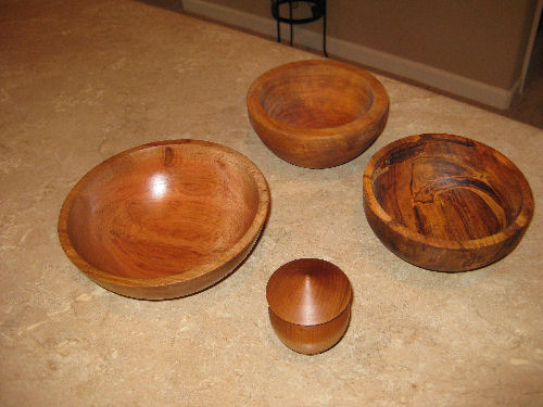 Bowls and a covered jar