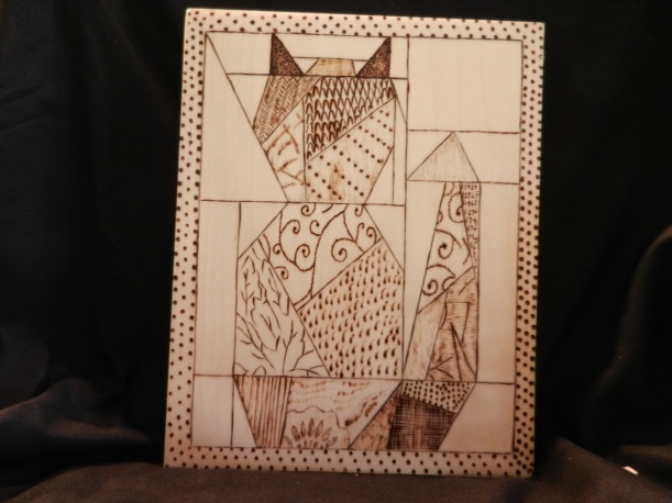 Cat - woodburning