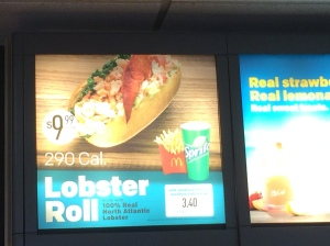 Lobster Roll at McDonalds